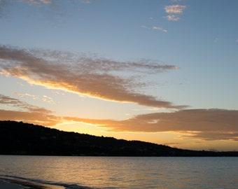 Sunrise Photography, Tropical Photo, Ocean Landscape, Serene Images, Calm Prints, Beach Photograph, Fine Art Photography, Blue Sky, Morning