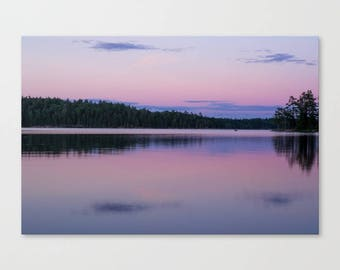 Large Canvas Art Pink Nature Photography, Purple Canvas Wall Art Large, Extra Large Canvas Art, Boundary Waters, Boundary Waters Art