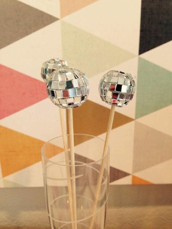 Disco Ball Drink Stirrers 12ct