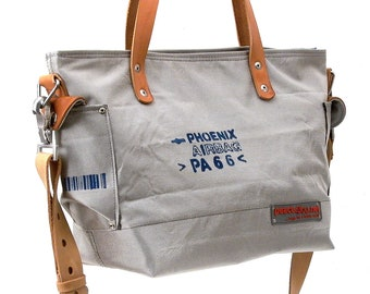Small Lightweight Shoulder Bag Handbag Recycled Car Airbag Upcyclates In-House Production by peace4you / 2175