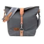 Grey Shoulder bag leather shopper recycled Marine leather jacket upcycled in-house production by peace4you/2129
