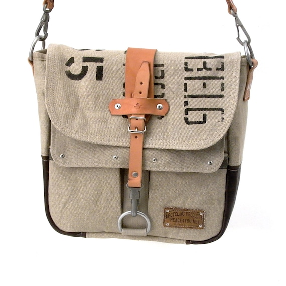 Tenacitee Living In Vermont with Nevada Roots Grey Brushed Canvas Messenger Bag