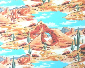 Cotton Fabric - Mesa Western Views Windham Fabrics - per 1/2m - For Dressmaking and Patchwork - Free Shipping - UK Seller