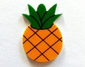 Pineapple Charm, Fruit Charm, Luau Theme, Flat Back, Planar Resin, Hair Bow Center, Craft Supply Cabochon, DIY Craft Supplies, Scrapbooking