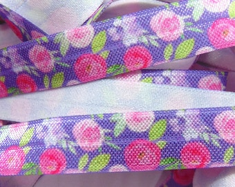 Black Pink Aztec Print Fold Over Elastic Foil Printed Elastics Fun DIY Hair Tie Making Southwestern Flat Sewing Supplies 58 inch FOE