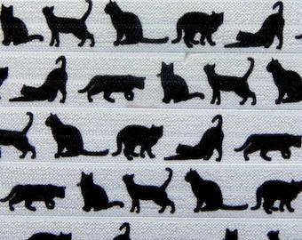 "Cute Animal /& Vintage Toy Fold Over Elastic FOE 5//8/"" 16mm per metre Kitten Cat"
