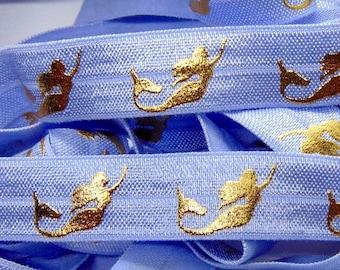 Print DIY Hair Tie Making Mermaid Scales Print Fold Over Elastic 58 inch FOE Rainbow Flat Sewing Supplies Soft Printed Elastics Fish