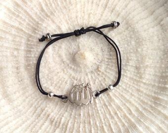 Allah charm string bracelet , Silver Allah charm,