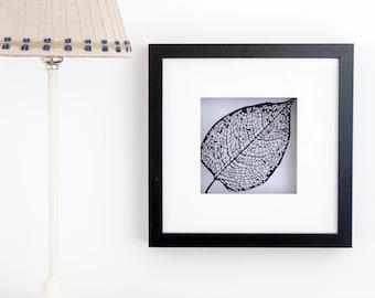 Framed Paper Cut Leaf Scene