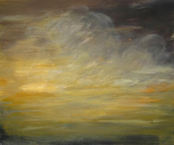 Quadro su tela cielo acquerello astratto nubi u pixers viviamo