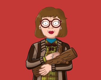 Twin Peaks Greeting Card - Log Lady - Log - Quote - Blank Inside
