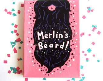Merlin's Beard - Harry Potter - Original Painting -