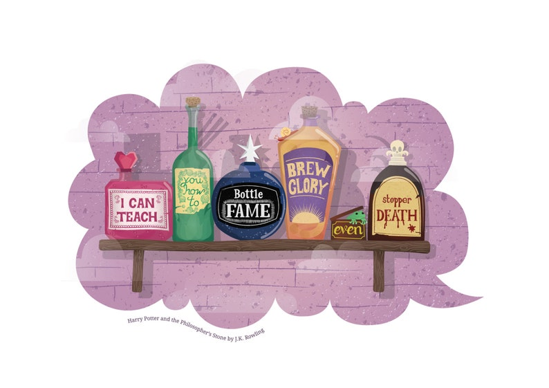 Harry Potter Print  A4  Book Quote  Potions  image 0