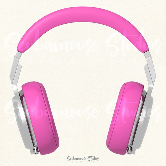Pink Headphones Clipart Pink Headphones Clip Art Music Etsy