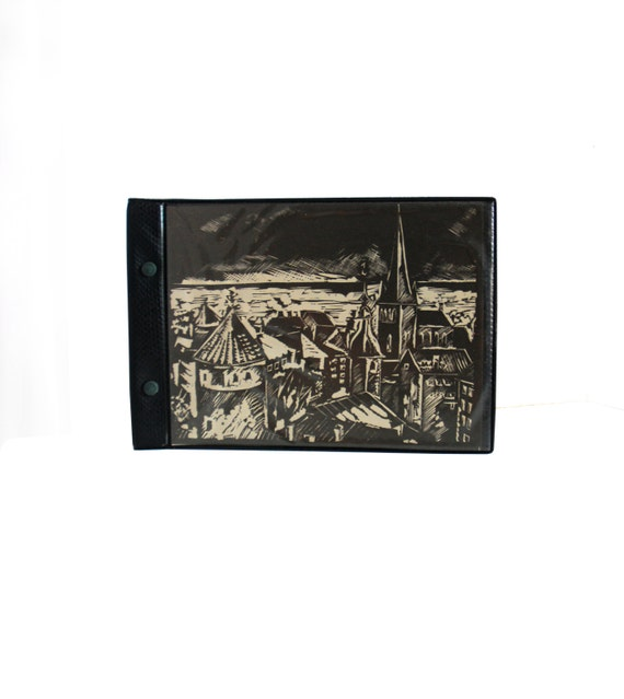 Black Pages Vintage Photo Album With Picture Of Tallinn Retro Etsy