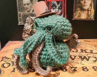Cthulhu art - Steampunk Cthulhu gift - Cthulhu toy - lovecraft - cthulu - necronomicon - horror