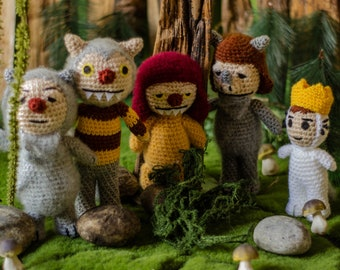 Where the wild things are / wild one / wtwta party / Five dolls /Carol / Kw / Ira / Judith / Max / Maurice Sendak Story dolls Wild