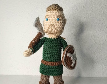 Viking nordic wool doll handmade. Best quality wool and craftship for viking newborn / Ideal for children of Vikings / Thor