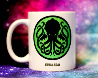 Cthulhu Kraken mug, Hydra Lovecraft mug handmade, sublimation,  Premium quality, r'lyeh
