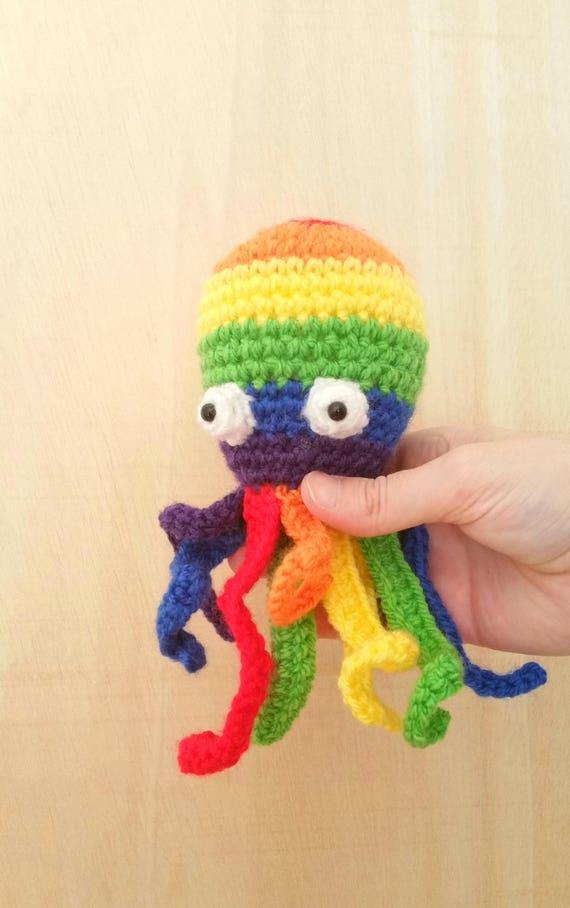 Multicolor Octopus Octopus Rainbow Tentakels Octopus Etsy