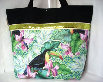 Tote bag tropical toucan.