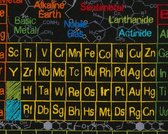 Periodic table quilt etsy periodic table fabric you choose size c5708 timeless treasures novelty fabric urtaz Image collections