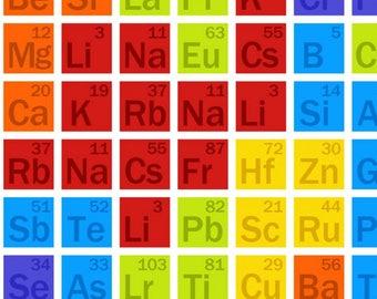 periodic table fabric you choose size 3733 87 studio e fabrics geek chic teacher fabric science fabric science elements