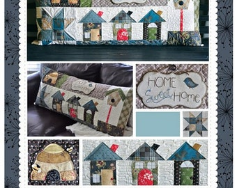 SALE Home Sweet Home Bench Pillow Pattern by Kimberbell - KD179; Quilted Pillow Cover; Pillow Pattern; Sewing Pattern