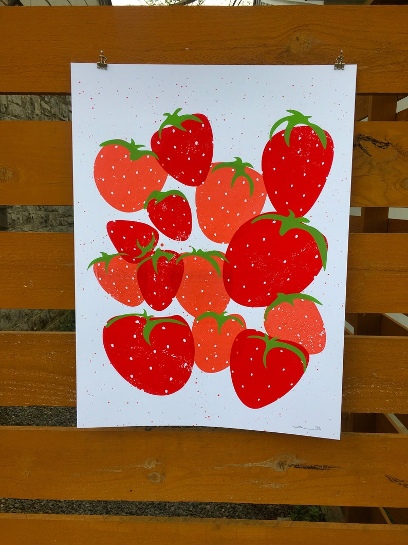 Strawberries Print image 0
