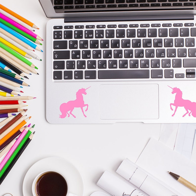 Unicorns, Laptop Sticker, MacBook Decal, Trackpad Sticker, Touchpad Decal,  Laptop Decal, Unicorn Stickers, Unicorn Decals, Laptop Decoration