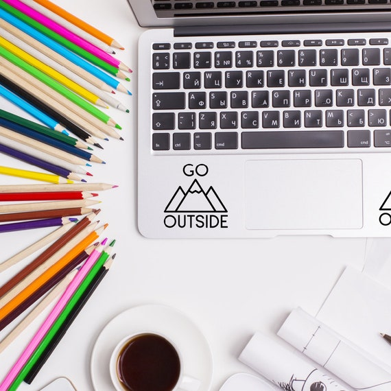 Go outside, Trackpad Stickers, MacBook Decal, Apple MacBook, Laptop  Stickers, Trackpad Decals, Laptop Decals, Touchpad Stickers, Mountains