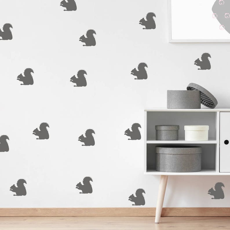 Wall Pattern Nursery Decals Nursery Stickers Nature Stickers Squirrel Stickers Wall Confetti Set of 50 Wall Decals Squirrel Decals