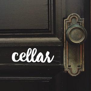 Door Sign Basement Sticker Basement Basement Decal Basement Sign Door Label Door Sticker Door Stickers Door Decal Vinyl Decal