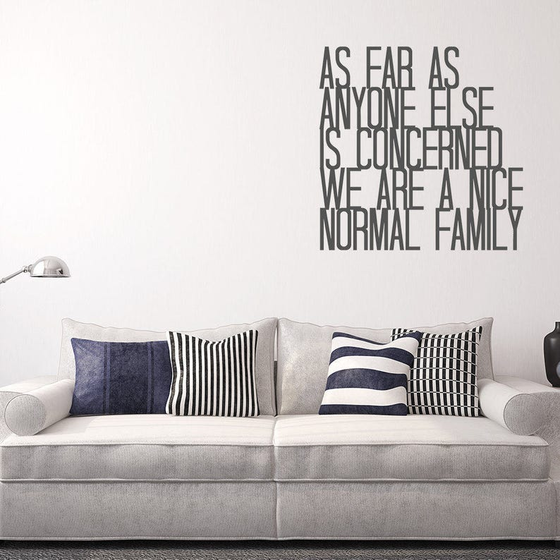 nice normal family wall decal quote funny sticker home | etsy