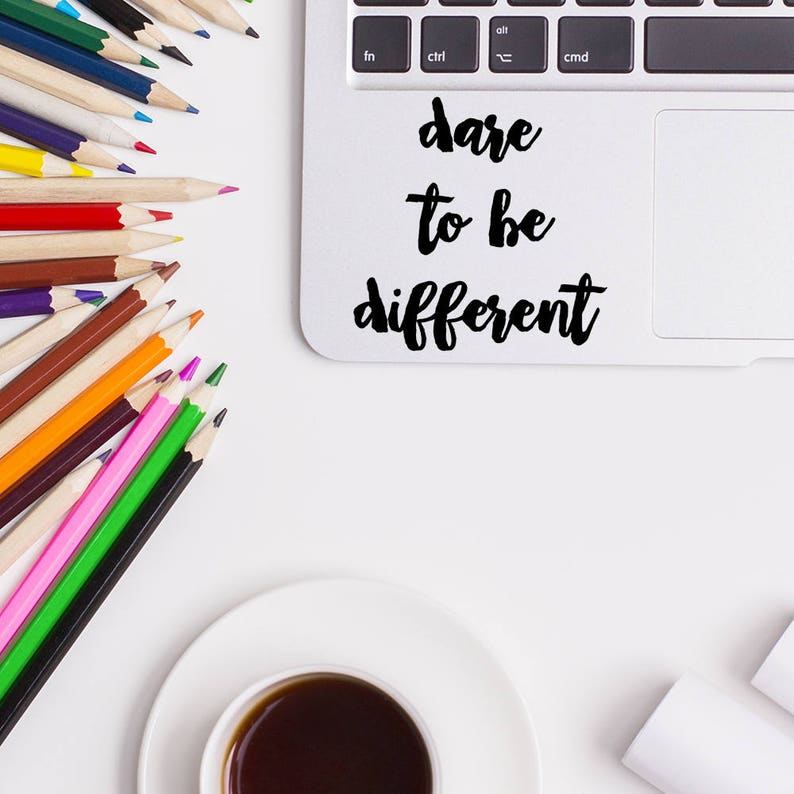 Dare to be different, Trackpad Stickers, MacBook Decal, Apple MacBook,  Laptop Stickers, Trackpad Decals, Laptop Decals, Touchpad Stickers