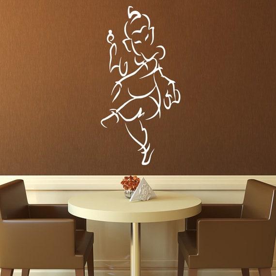 Wall Decal Ganesha Ganapati Vinayaka Yoga Wall Art Hindu | Etsy