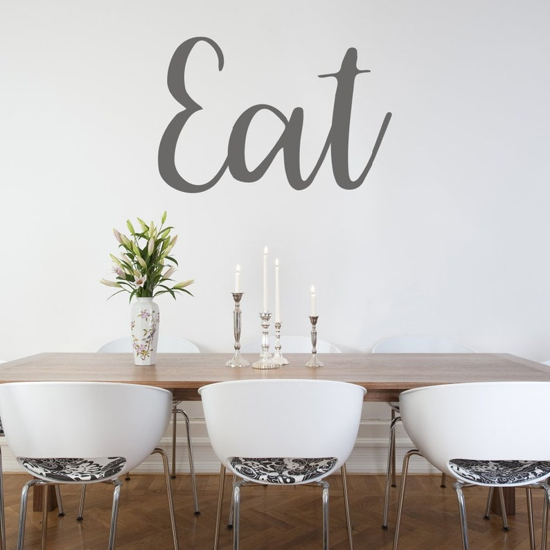 eat wall decal wall quote kitchen decals dining room | etsy