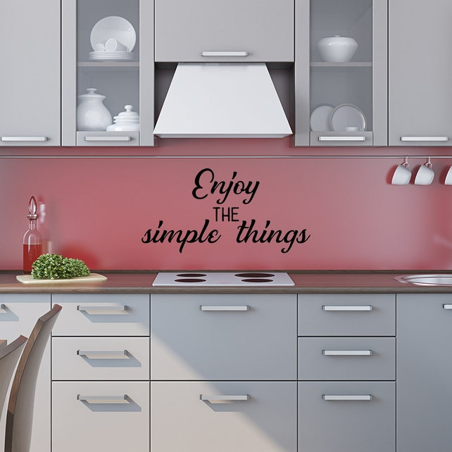 Enjoy The Simple Things Wall Decal Positive Vibe Simple Etsy