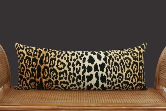 Leopard Velvet Lumbar Pillow Cover Extra Long Lumbar Pillow Etsy Amazing Extra Long Decorative Lumbar Pillow