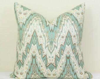 Spa blue throw pillow cover 18x18 20x20 22x22 24x24 26x26 Euro sham Lumbar pillow Spa blue pillow light blue pillow Aqua pillow 12x24 16x24