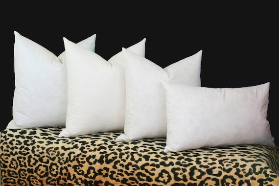 4040 Feather Down Pillow Inserts 400% Cotton Cover 40x40 Etsy Amazing Long Lumbar Pillow Insert