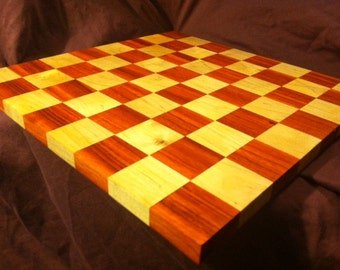 SALE! Padauk and Maple Chessboard//20% OFF