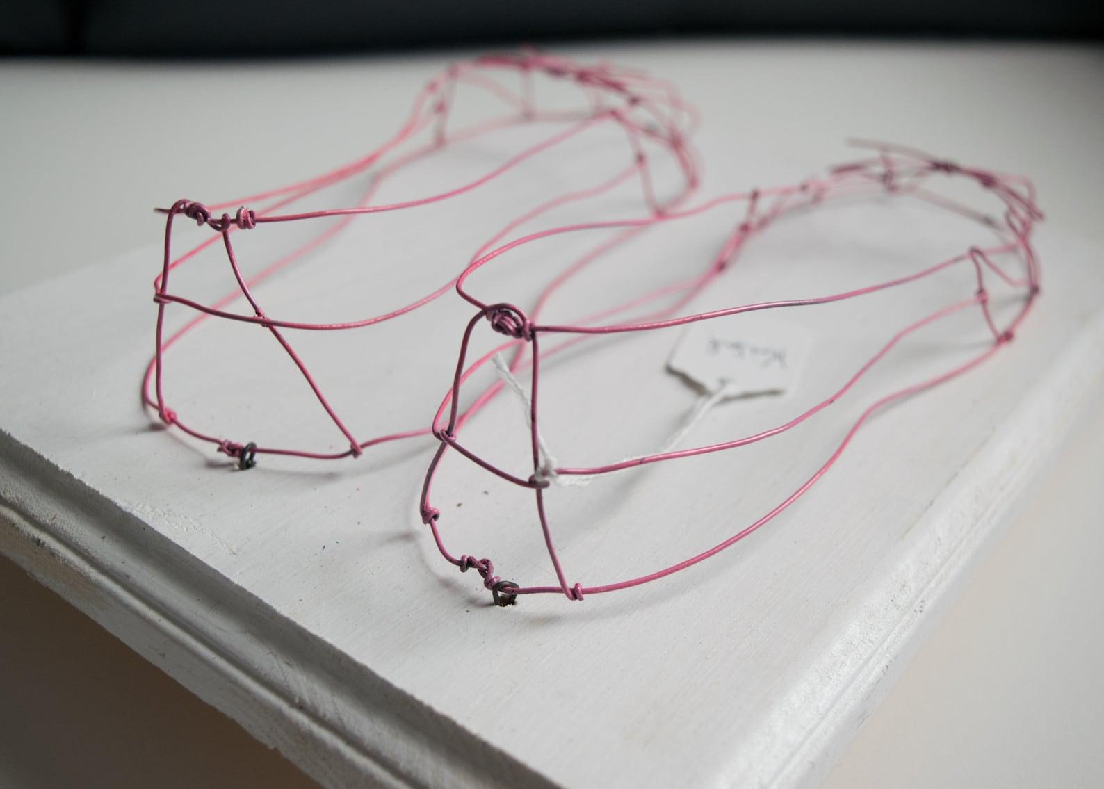 ballet flats | ballerina | wire art | home decor | sculpture