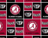 Alabama Crimson Tide Boxes NCAA Red Black AL-020 by Sykel Enterprises 100 Cotton Fabric