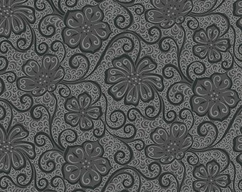 3a123d51359 Meadow Dance Floral Blender - Dark Gray 404411B by Amanda Murphy / Contempo  100% Cotton Quilting Fabric Yardage