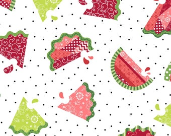 Watermelon Patch - White 8251-W by Maywood Studio Cotton Fabric Yardage