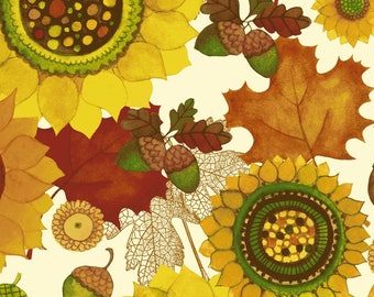Autumn Reverie - Butter Sunflowers 2180-59 by Clothworks Cotton Fabric Yardage
