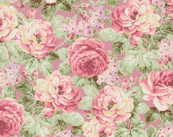 Prima Roses - Pink 2260-11C by Quilt Gate USA Cotton Fabric Yardage