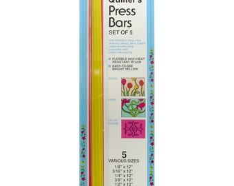 Quilter's Press Bars - Set of 5 Assorted Sizes - Sewing notion Quilting notion Ironing Aid