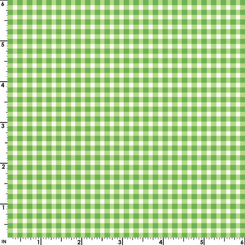 Yellow Green 610-GG1 by Maywood Studio 100/% Cotton Fabric Checks Bolt End 32in